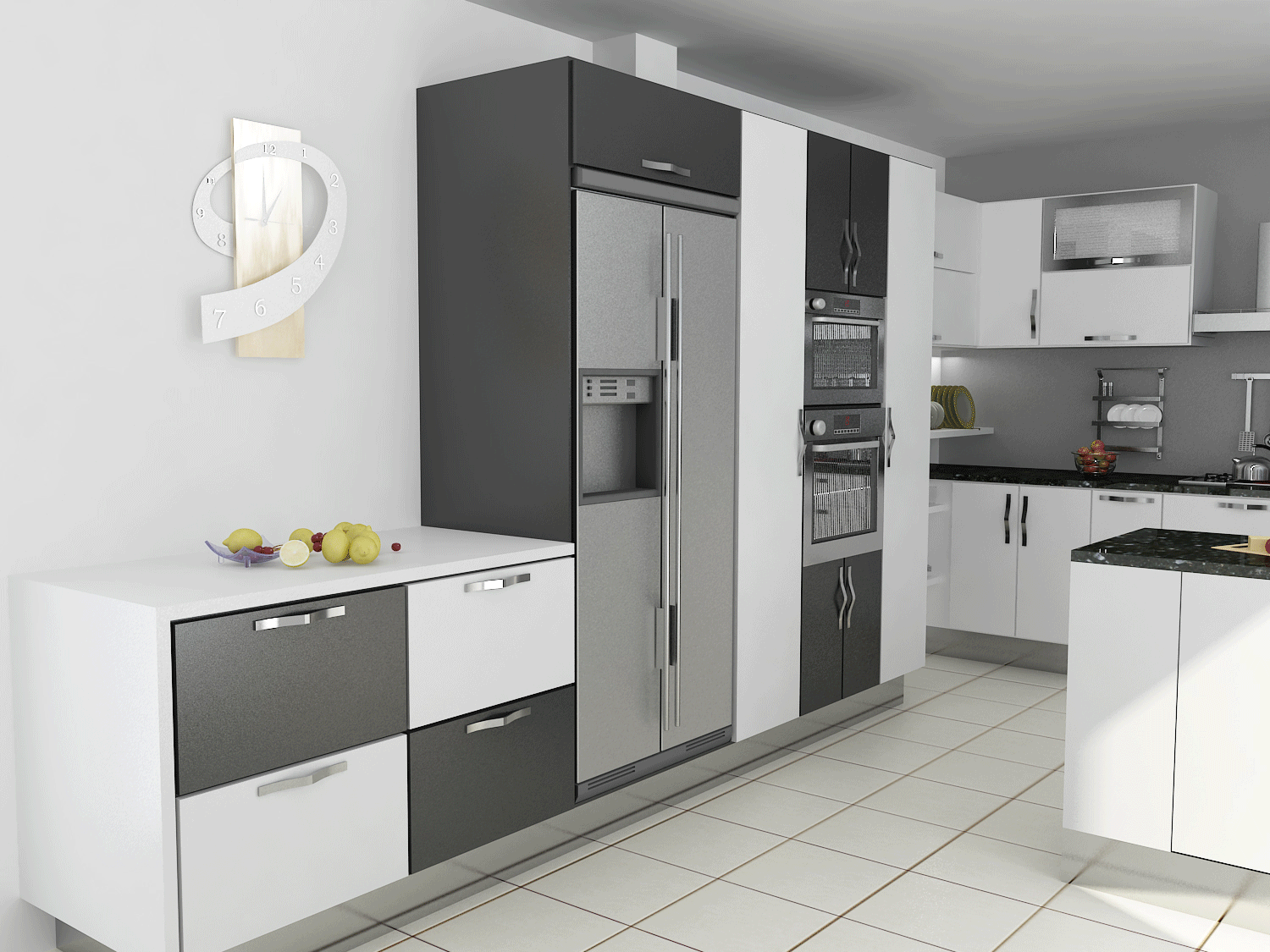 Cuisine 3d finest plan d u visite virtuelle d immobilier for Conception cuisine virtuelle